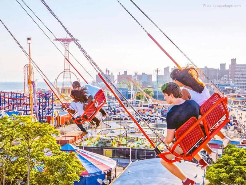 parque de diversões em nova york
