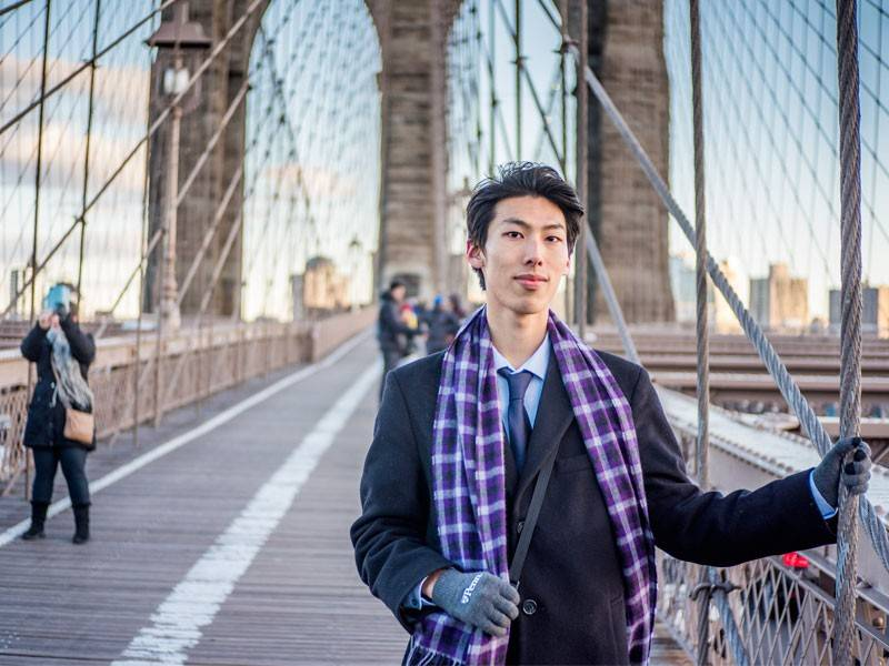 caminhe pela Brooklyn Bridge