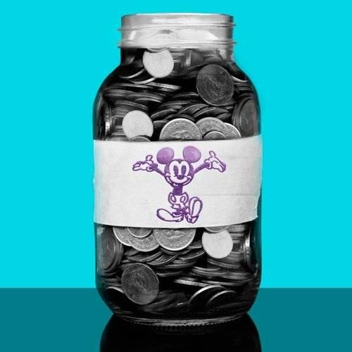 pote de moedas para poupança Disney