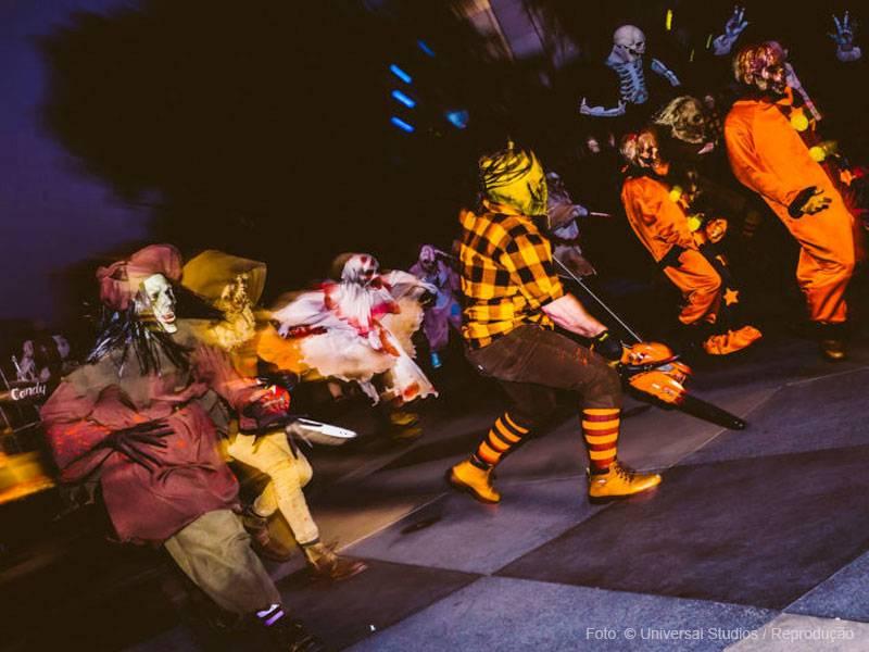 performances ao vivo durante o evento nos parques da Universal