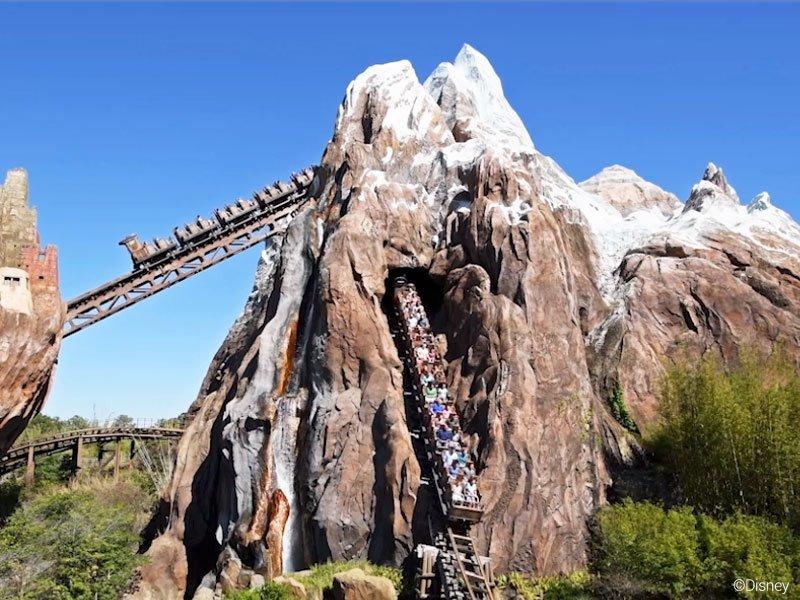 EXPEDITION EVEREST é uma das atrações radicais da Disney