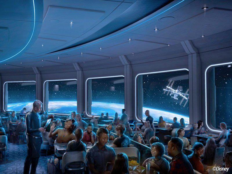 o novo restaurante space 220 é uma das novidades anunciadas nos parques da disney