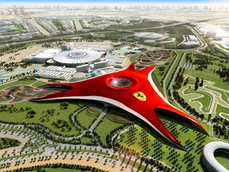 Ferrari World, o parque temático da Ferrari