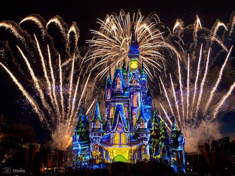 Not So Spooky Spectacular - Halloween Magic Kingdom - espetáculo de fogos de artifício - Castelo da Cinderela - parques da Disney