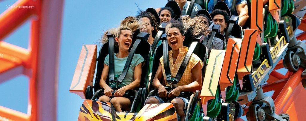 atrações do Busch Gardens - parque temático Busch Gardens - Serengeti Safari - montanha-russa - ingresso para o Busch Gardens