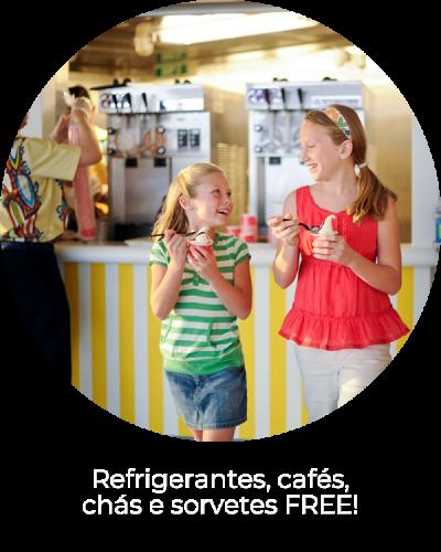 Refrigerantes, cafés, chás e sorvetes FREE